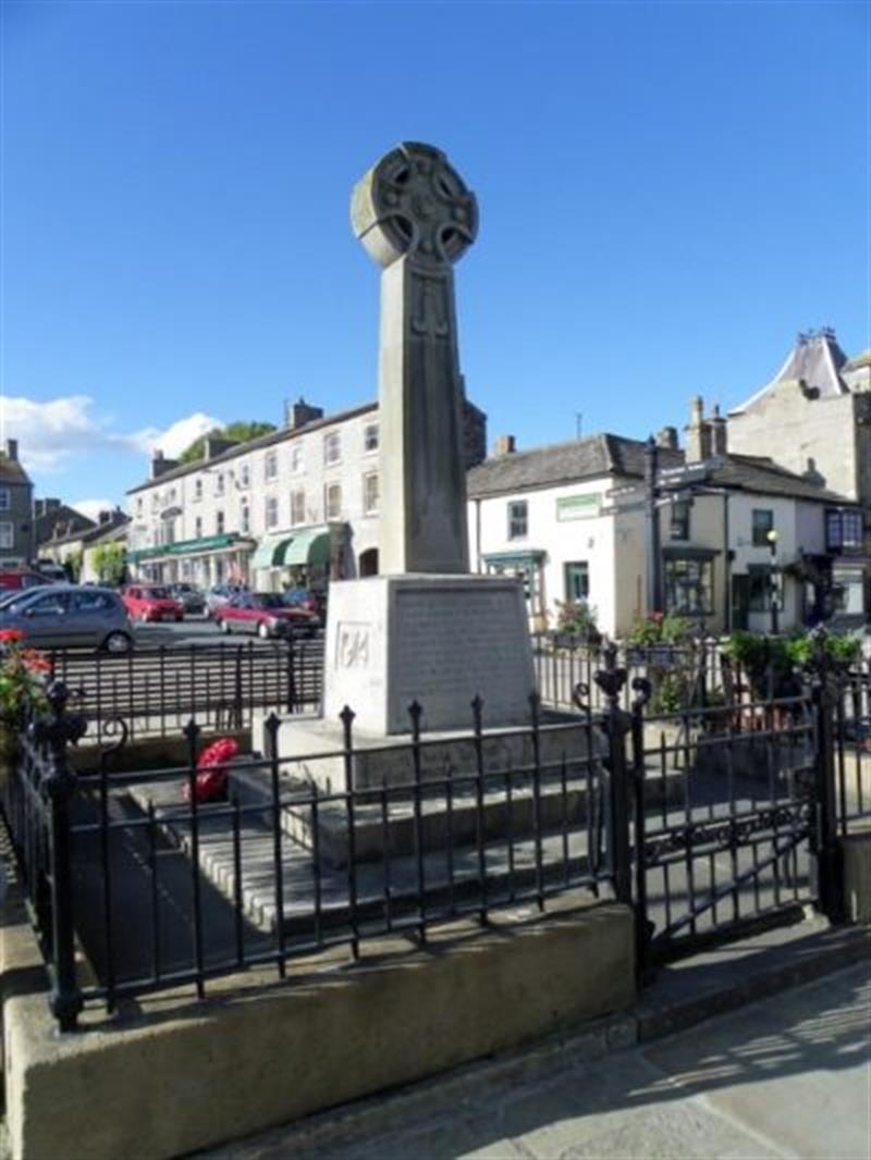 War Memorial, Market Place in Leyburn