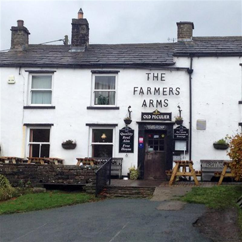 Outside the Farmers Arms, Muker